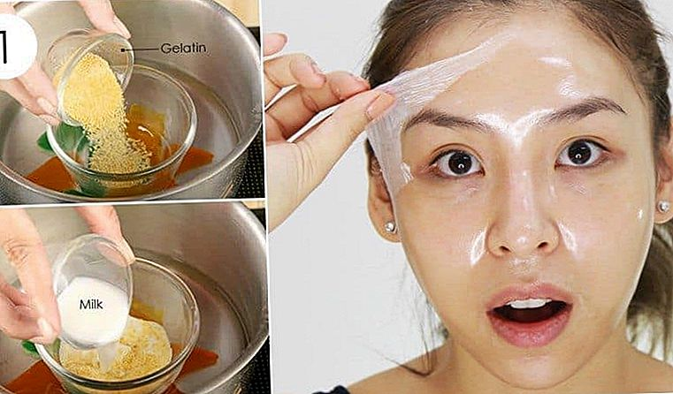 DIY Gelatin Peel Off Mask for at fjerne Blackheads, Whiteheads og uønsket hår